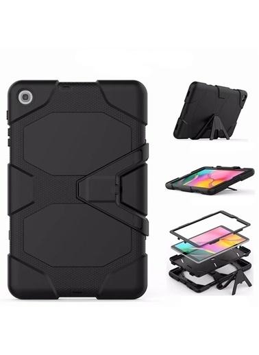 Techmaster Samsung Galaxy Tab A 8inç T290 Zırh Armor Standlı Kılıf Siyah